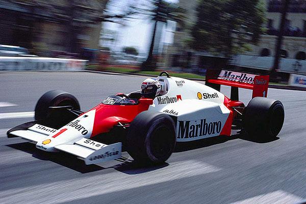 Alain Prost az 1986-os Monacói futamon