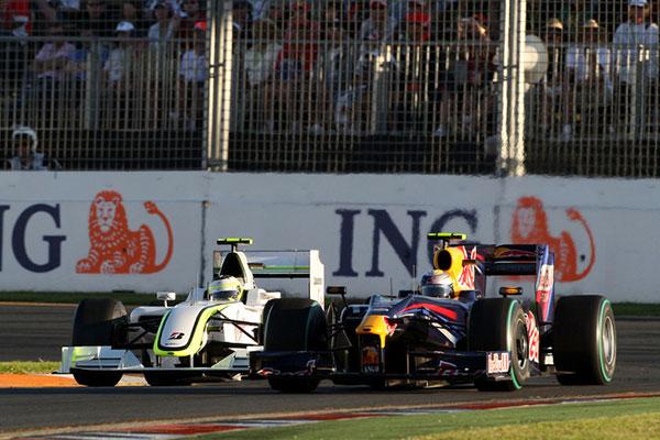 Csatában a Brawn GP-vel ( Rubens Barichello)