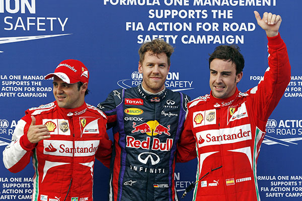 Pole pozícióban a Maláj nagydíjon a két Ferrari előtt
