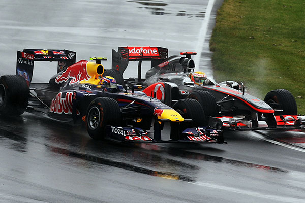 Vettel és Button küzdelme - Kanada