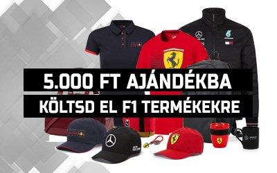 Ajándék 5.000 forint Forma 1 termékekre